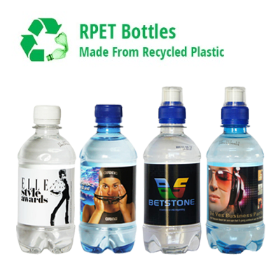 330ml rPET Promotional Water - Branded for You!