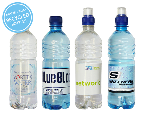 Branded Bottled Water UK - 500ml rPET