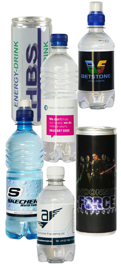 Get a quote - branded water and soft drinks